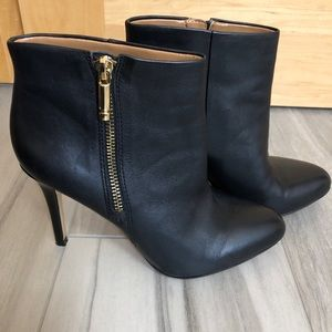 Banana Republic Black Leather Booties